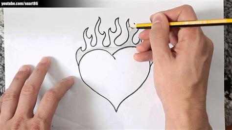 imagenes de corazones con fuego como dibujar un corazon con fuego youtube