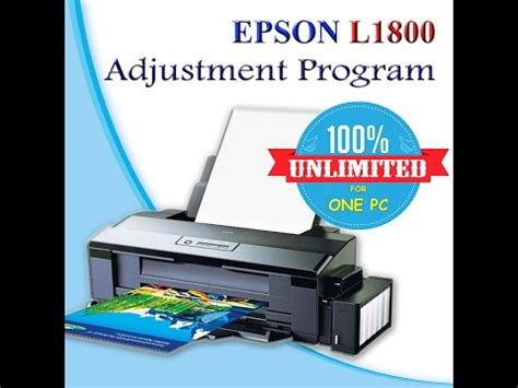 epson l1800 resetter adjustment program reset epson l1800 doovi