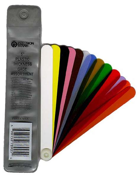 precision brand tool black 13 plastic thickness gage fan blade asst 1 2 quot x 5
