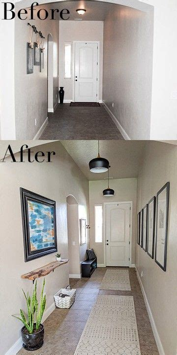 pictures  long entryway makeover