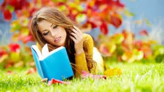 reading ls the girl on the grass reading a book wallpapers and images