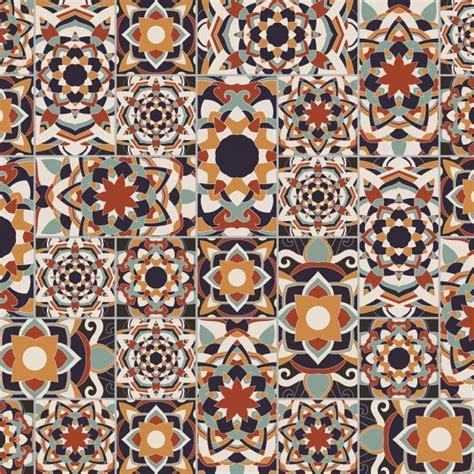 tile pattern ai seamless decorative tile pattern vector set background