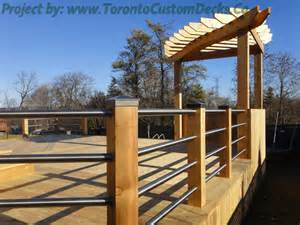 Patio Handrail by Toronto Custom Deck Design Pergolas Fences Outdoor