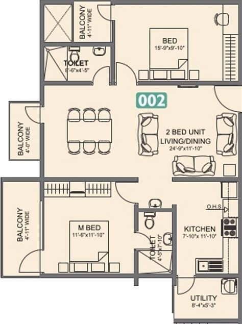 laurel floor plan 1306 sq ft 2 bhk 2t apartment for sale in vmaks laurel