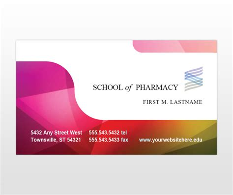 education business card templates pharmacy school pharmacist education business