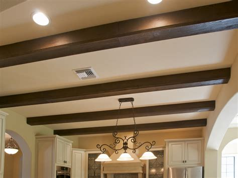 False Ceiling Beams Faux Wood Beam Ceiling Designs Traditional Kitchen New