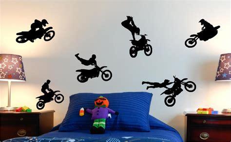 Blue And Silver Bedroom motorcross moto x kids wall art stickers custom