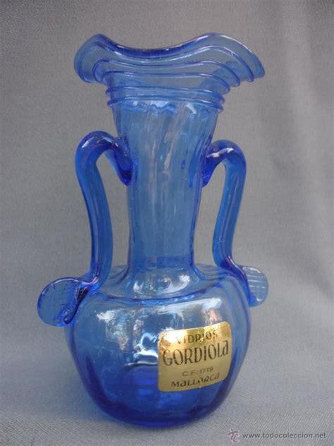candelabros gordiola jarr 243 n o violetero en cristal mallorquin azul sellado