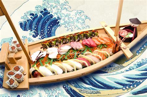 sushi on a boat sushi