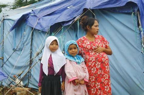 Tenda Anak Garut korban kebakaran cimareme melahirkan di tenda pengungsian