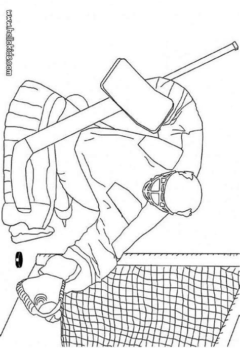 sledge hockey coloring pages winter sport coloring pages hockey goalkeeper
