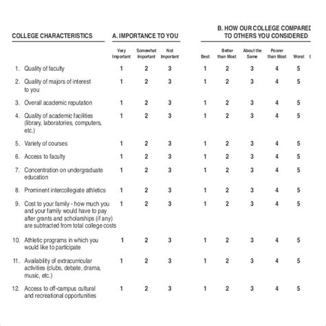 student satisfaction questionnaire template 19 student survey templates free sle exle