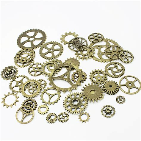 bulk charms for jewelry wholesale mix 100 pcs vintage charms gear pendant antique