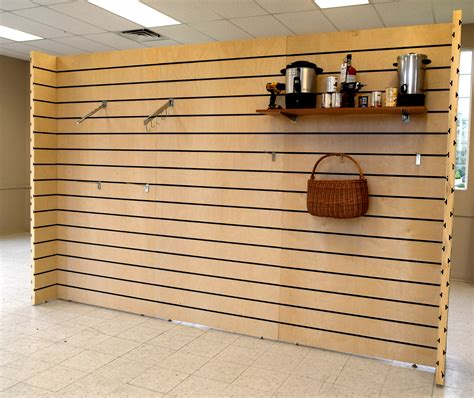 wood scow 4 215 8 slatwall trade show display walls non warping