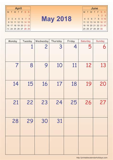 printable calendar 2018 vertex may 2018 calendar template portrait printable 2017