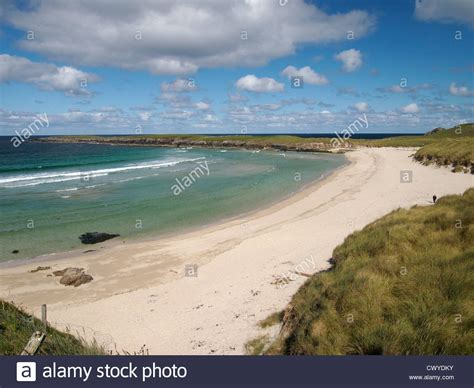 sle of yell sands of breckon yell shetland stock photo royalty free