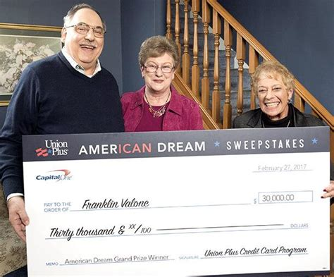 American Dream Sweepstakes - afscme friday the 13th redefined for union plus american dream sweepstakes winner