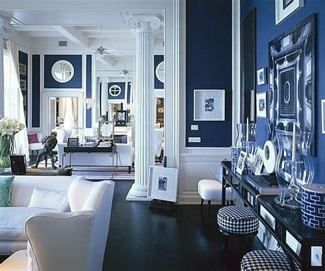 White Blue Living Room by A Blue And White Living Room Mcgrath Ii