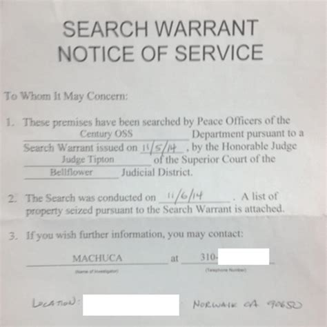 Los Angeles Superior Court Warrant Search Update Bellflower Sheriff S Use Questionable Search
