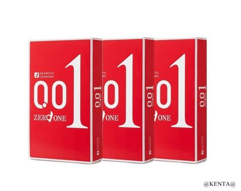 okamoto zero one 0 01 mm 3 pcs x 3 boxes from japan f s