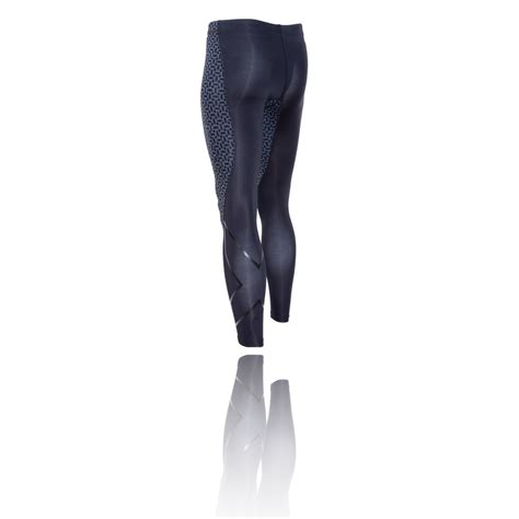patterned compression tights 2xu tr2 pattern compression running tights ss16