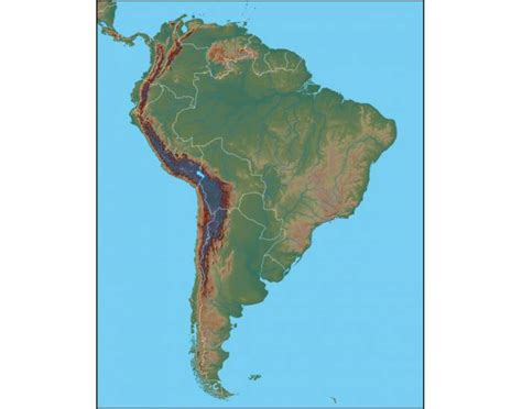 america map quiz purpose physical map of south america