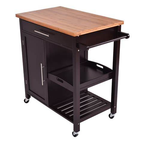 Kitchen Trolley Island Bamboo Kitchen Island Trolley Cart Kitchen Dining Carts Carts Islands Furniture