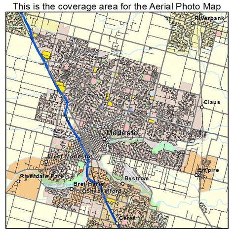 california map modesto aerial photography map of modesto ca california