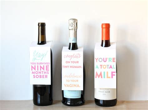 printable wine gift vouchers printable new mom gift wine tags bgd blog