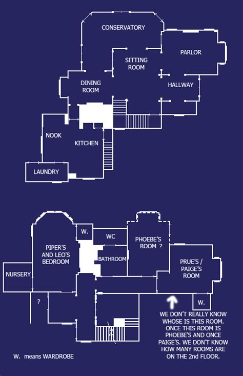 halliwell manor floor plans charmed house blueprint by caris94 on deviantart