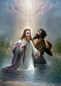 john the baptist baptizes jesus christ painting by war is