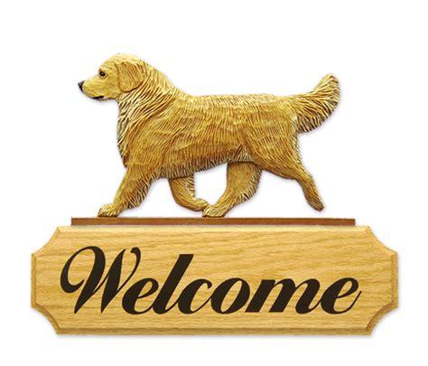 golden retriever signs golden retriever welcome sign