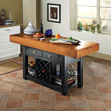 two tone italian kitchen island table at wine enthusiast 2 795 00 wine pinterest