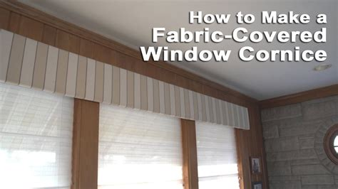 How To Make A Fabric Covered Cornice window cornice box roselawnlutheran