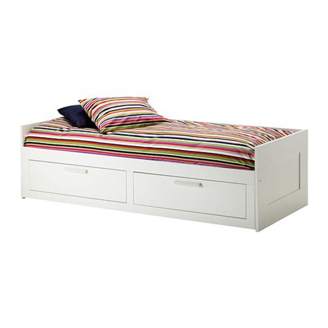 bett 80x200 brimnes daybed frame with 2 drawers ikea