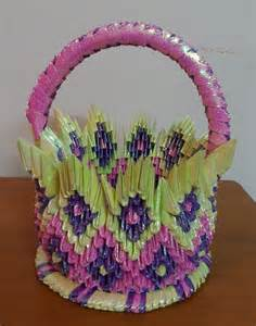 How To Make Origami Flower Basket - pics 3d origami design objects