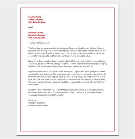 Hardship Letter For Visa hardship letter template 10 for word pdf format