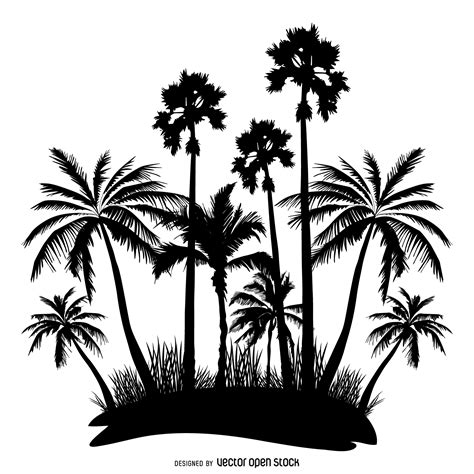 palm tree svg palm trees silhouette vector download