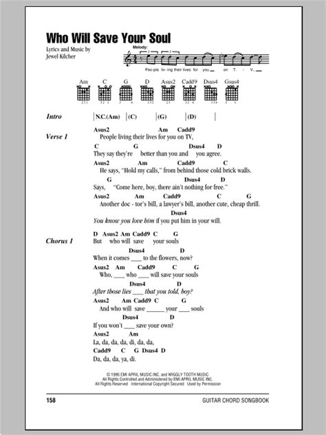 Who Will Save Your Soul by Jewel - Guitar Chords/Lyrics