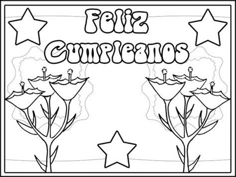 imagenes de cumpleaños para colorear e imprimir 54 tarjetas de fel 237 z cumplea 241 os para pintar y regalar