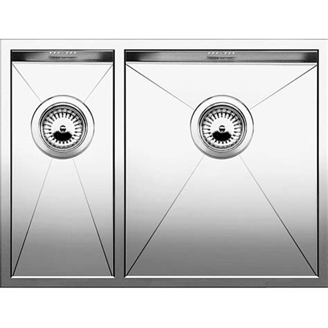 blanco stainless steel sink blanco zerox 340 180 u stainless steel sink kitchen