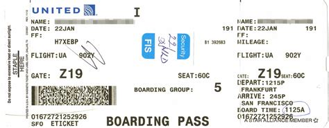 boarding pass united airlines boarding pass bing images