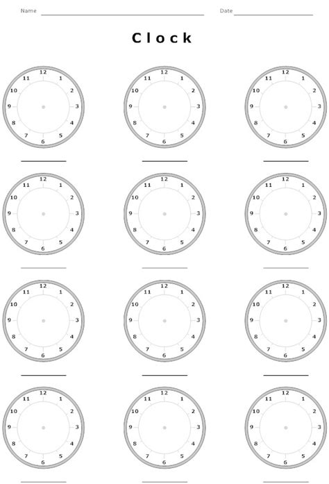 Blank Clock Worksheets by 15 Best Images Of Blank Clock Worksheets Blank Digital