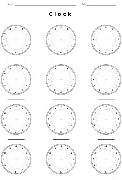 blank time worksheets 15 best images of blank clock worksheets blank digital