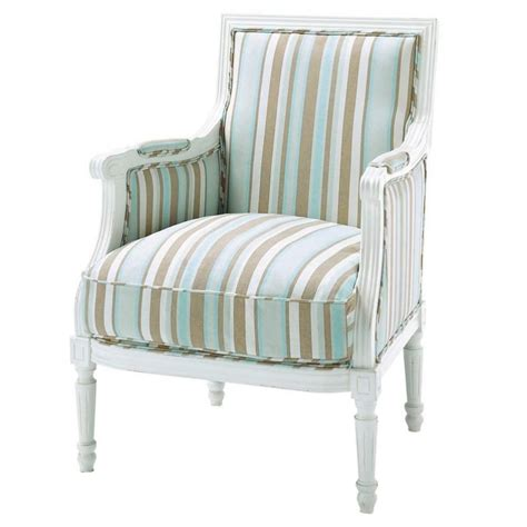 Blue Striped Armchair by Cotton Striped Armchair In Blue And Taupe Casanova