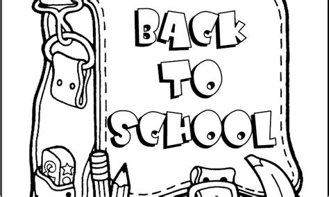 Free Coloring Pages Of Back To School Back To School Coloring Pages For Preschool