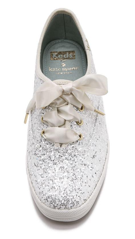 kate spade glitter keds sneakers blue  white lyst