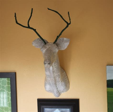 diy deer head art popsugar home