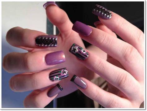 fingernail color 20 cool purple nail designs