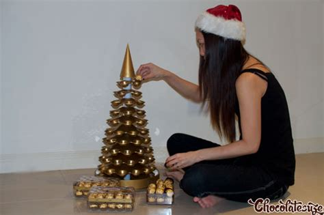 how to make a rocher christmas tree with 48 rocher chocolates ferrero rocher by bkh centrepiece giveaway chocolatesuze